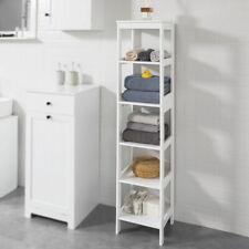 SoBuy®White 5 Tiers Bathroom Storage Shelf Cabinet Unit Free Standing,BZR14-W,UK