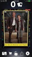 Topps Star Wars Digital Card Trader Heritage Han & Leia S5 Base Variant Award