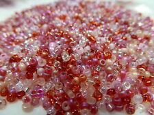 8/0 Valentine Bead Mix Miyuki Round Glass Seed Beads 10 grams