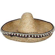 LUJO Sombrero Mexicano Adulto México BANDIT De Disfraz Paja NUEVO