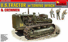 MiniArt 1/35 35225 WWII US Tractor D7 with Towing Winch D7N (with 3 Figures)