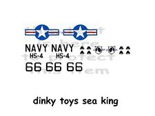 DINKY TOYS SEA KING HELICOPTER STICKER SET on CLEAR  PLASTIC