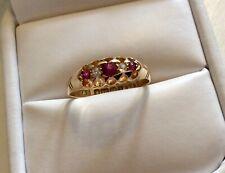 Stunning Ladies Quite Pristine Antique 18CT Gold Ruby & Diamond Ring - N 1/2