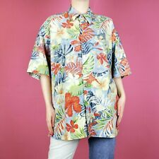 2999806a5 VINTAGE Pierre Cardin Hawaiian Floral 90s Grunge Oversize Festival Shirt  Top L