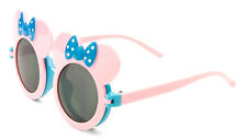 KIDS PINK BLUE MOUSE EARS FLIP UP SUNGLASSES CLEAR BLK LENS MICKEY MINNIE BOW