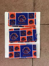 NEW BOISE STATE BRONCOS Material Checkbook Cover- Hand Made. Go Broncos!