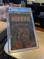 HORRIFIC #4 CGC 1.8 Classic shrunken Head cover