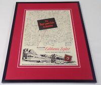 1951 Western Pacific California Zephyr 11x14 Framed ORIGINAL Advertisement