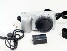 Sony Alpha NEX-F3 16.1MP Digital Camera Silver Camera Body ONLY 7K SHUTTER COUNT