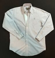 Bobby Jones Men's Long Sleeve Button-Front Shirt Size Med. PGA Tour Embroidery