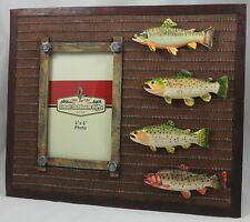 """Great Outdoors Gifts Four Trout Vertical 4""""X6"""" Photo Frame"""