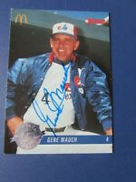GENE MAUCH 1993 McDonald # 30 Donruss 25th Signed autographed Montreal Expos