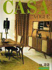 CASA VOGUE #22 Originality VLADIMIR KAGAN Nan Bush BRUCE WEBER Carlo Mollino N/M