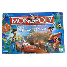 Monopoly Pixar Disney Edition Complete Board Game Toy Story Monsters Inc Cars