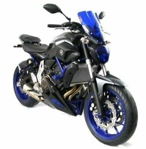 Yamaha MT-07 Tracer/GT FJ-07 Tracer/GT 16-19 Belly Pan Black with Blue Mesh by P