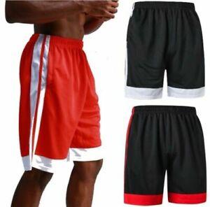 Sporthose Basketball Hose Shorts kurz Herren schnelltrocknend mit Seitentaschen
