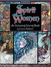 Spirit Women Adult Colouring Book Enchanting Faces Creative Fantasy Mystical Art
