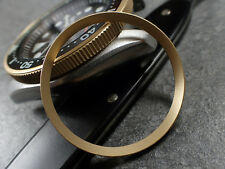 GOLD BLASTED ST.STEEL CUSTOM CHAPTER RING FOR SKX007 7S26-0020 R-01-BG