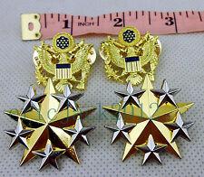 Set US Army Six Star Rank Insignia Badge Pin US Officer Shoulder Eagle Badge