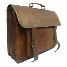 Real bold Vintage Leather Large Messenger Laptop Satchel Briefcase Men's Bag
