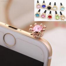Diamant  Krone  Handy  Staub  Stecker  Telefon  Gold Süß Ornament Mode Einzeln