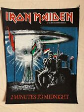 Vintage Original, Metal, Iron maiden Back Patch, 2 Minutes To Midnight 1984.