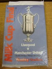 26/03/1983 Football League Cup Final: Liverpool v Manchester United [At Wembley]