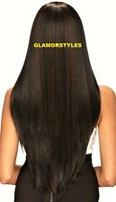 "38"" Super Long Straight Layered Dark Brown Full Wig Hair Piece #4 NWT"