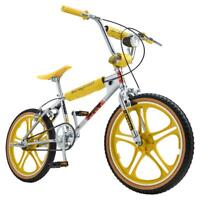 20 in Wheel Chrome  Yellow Single Speed  Max BMX Style Bike w/ Headlamp