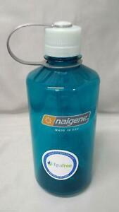Nalgene Narrow Mouth 32oz BPA Free Tritan Water Bottle Trout Green w/White Lid