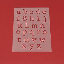 Schablone Wandschablone Buchstaben Satz a - z Klein Alphabet a bis z - ME23
