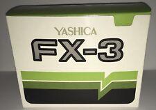 Vintage Yashica FX-3 Camera Body Box Only