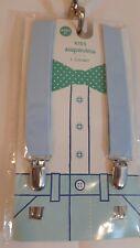 Kids Boys Light Blue Adjustable Elastic Suspenders Ages 3+