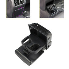 Black Central Console Rear Armrest Cup Holder for VW GTI EOS Jetta MK5 Golf MK6