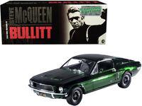 1968 FORD MUSTANG GT GREEN CHROME BULLITT 1/18 DIECAST MODEL BY GREENLIGHT 12823