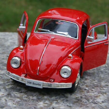 """Classic VW Beetle 1967 Two Doors can be opened Red 5"""" Alloy Diecast Car Model"""