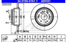 ATE Juego de 2 discos freno 282mm Para HONDA ACCORD 24.0109-0161.1