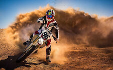 Stampa incorniciata-MOTOCROSS RACING (MOTOSPORT Supermoto foto OFF-ROAD MOTO DA CROSS)