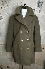 Vintage 40s Army officer's overcoat, mens coat, WW2