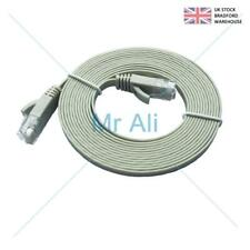FLAT Grey 20m Ethernet CAT6/RJ45 Network Cable Patch Lead for Smart TV/PS4/Xbox