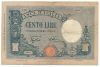 ITALY banknote 100 LIRE 16.12.1932. Azzurino type