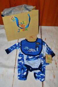 Lily & Jack, Baby Boy, Dinosaur, 5 Piece, Set, Incl. Gift Bag, NB, 0-3, 3-6 m