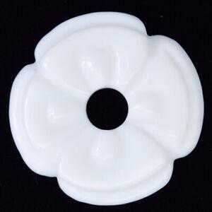 2pcs 45mm white jade carved donut pendant gemstone