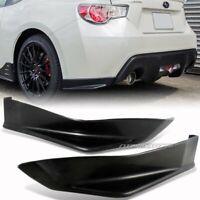 STi Style BRZ FRS Rear Bumper Side Lip Spoiler For 13-18 Subaru BR-Z /Scion FR-S