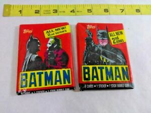 1989 Topps BATMAN Movie Trading Cards. 2nd Series