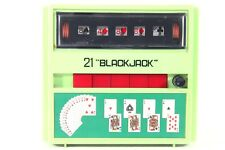 "Vintage 21 ""Black Jack"" Cordless Electric Hand Held Game For Parts Or Repair"