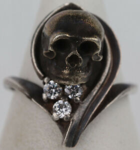 Unique designer ring SKULL Sterling SILVER 925 Unisex JEWELRY One in the world !