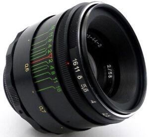 ⭐MINT⭐ Virtually NEW! HELIOS 44-2 58mm f/2 USSR Lens M42 Canon EOS Sony A7 Lumix