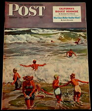 Saturday Evening Post  August 14 1948 COKE - WALTER REUTHER - CARL ROSE DRAWING