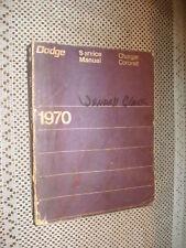 1970 DODGE SERVICE MANUAL ORIGINAL CHARGER CORONET SHOP